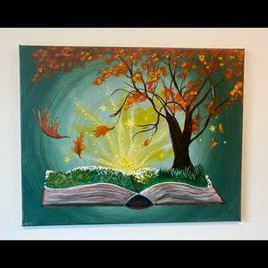 FALL DECOR Book of Seasons fall painting